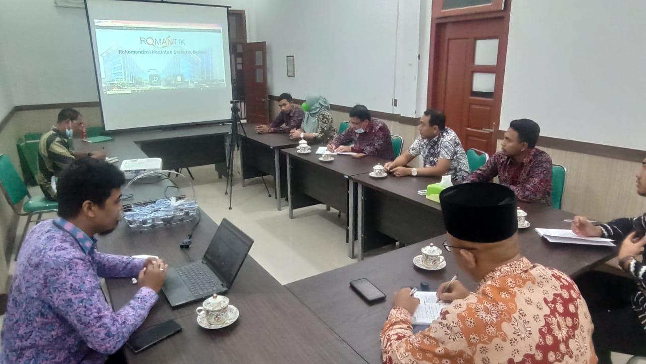 Pengadilan Agama Kuala Tungkal mengikuti Sosialisasi Aplikasi Romantik dari BPS Tanjung Jabung Barat