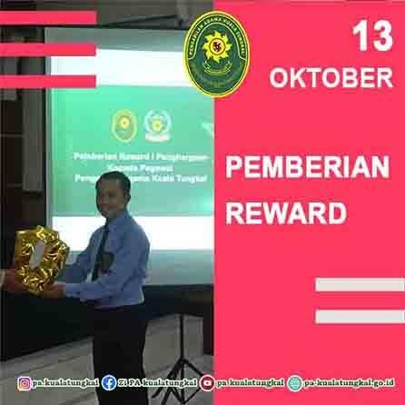 Pemberian Reward kepada Pegawai Pengadilan Agama Kuala Tungkal